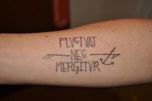 sharpie triathlon tatto