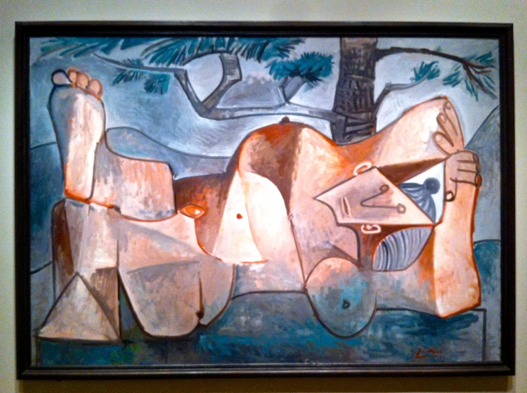 Picasso's Nude Under a Pine Tree, Cannes or Vauvenargues, 1959, oil on canvas