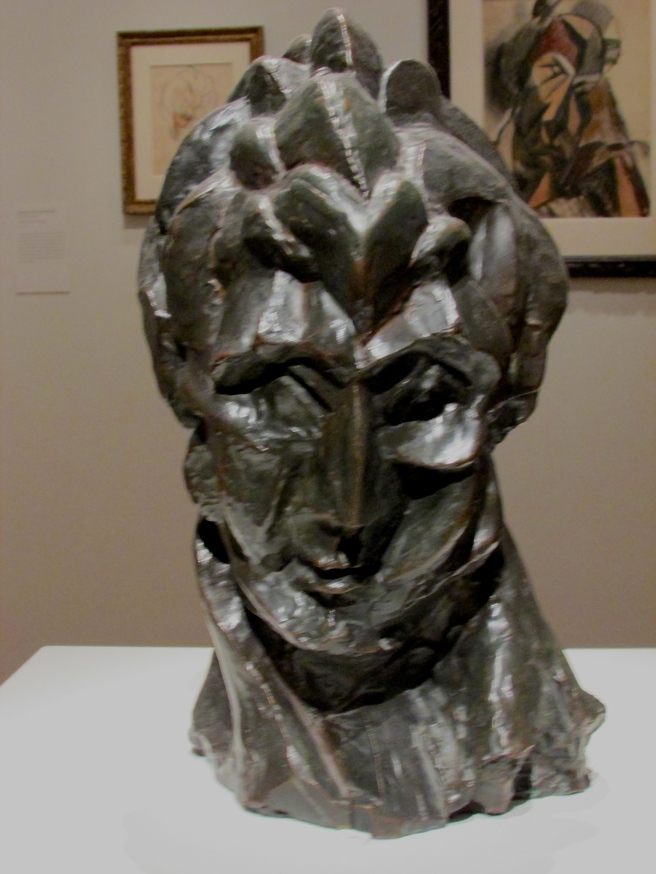 """Bust of a Woman (Fernande),"" 1909, bronze"