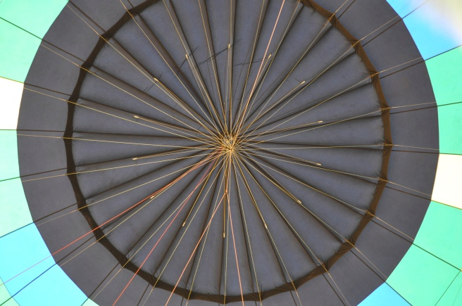 The top of our balloon from the inside.