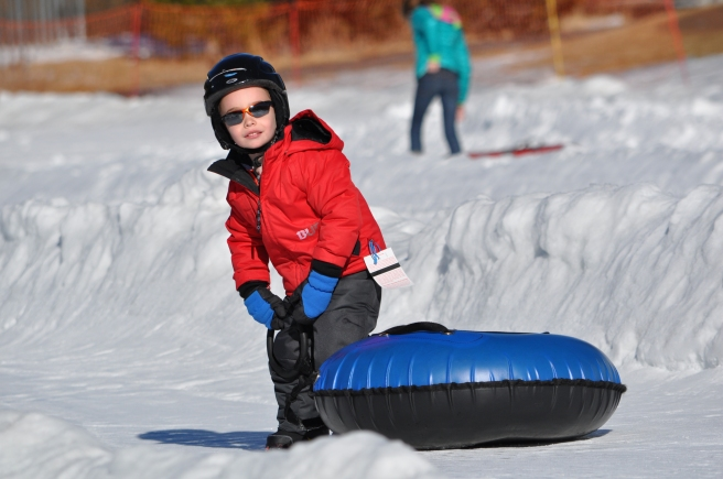 Janet's son Benny, soaking up the snow and sunshine at Squaw Valley.